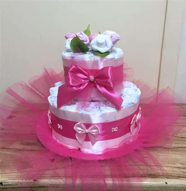 decoração para bolo de fraldas