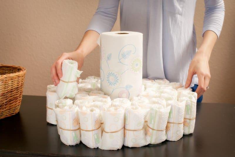 bolo de fraldas como fazer