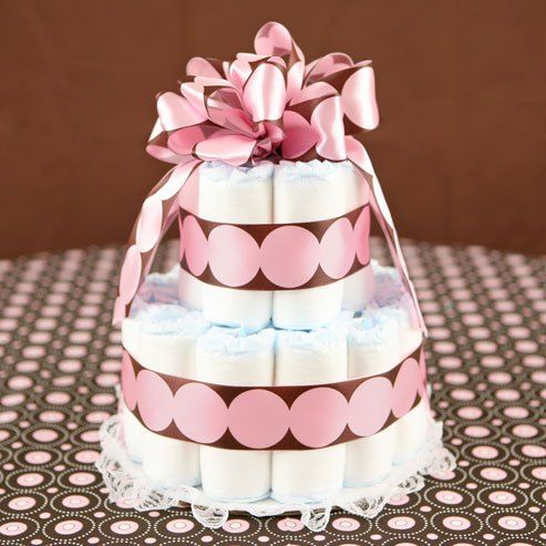 bolo de fralda de verdade