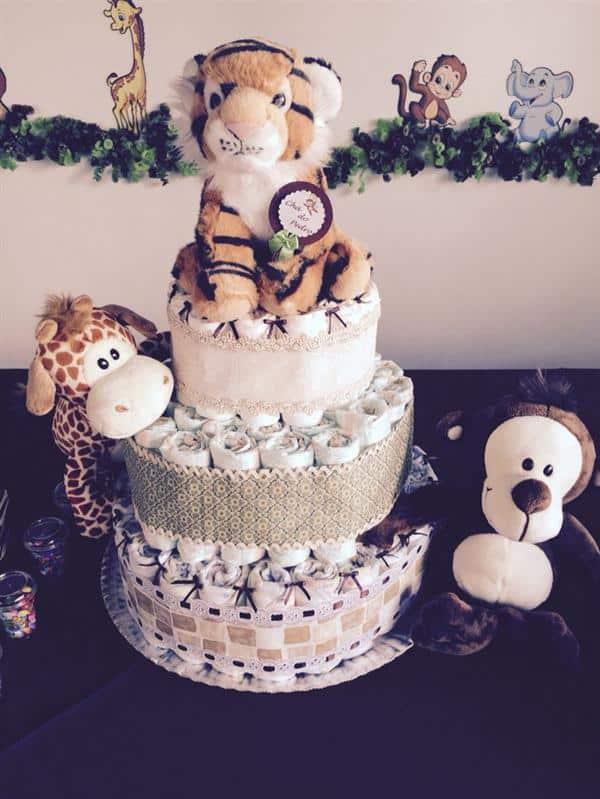 modelo de bolo de fralda