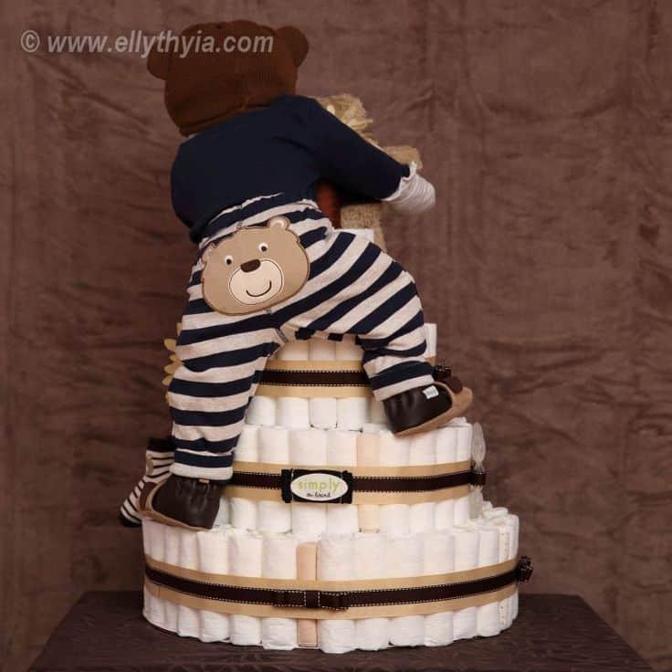 passo a passo bolo de fraldas
