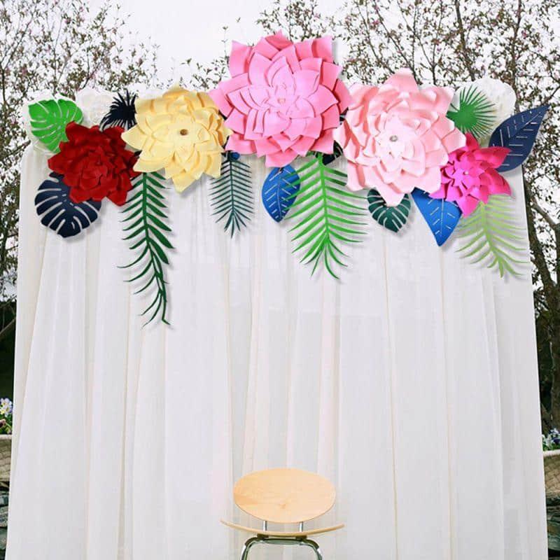 flor de cartolina f cil com molde 25 ideais para decora o artesanato passo a passo. Black Bedroom Furniture Sets. Home Design Ideas
