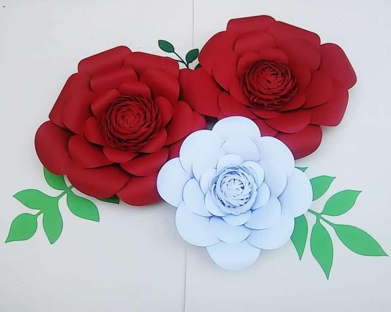Flor De Cartolina Fácil Com Molde 25 Ideais Para