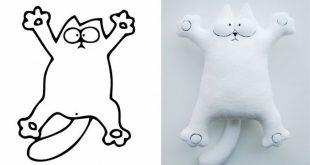 Molde de Gato em Feltro: Como Fazer – 25 Fotos