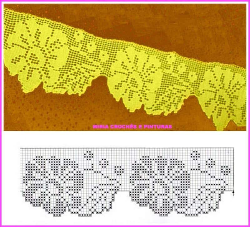 Bico de Crochê para Toalha de Banho  30 Ideais – Com Gráficos ... 24db2939ecb