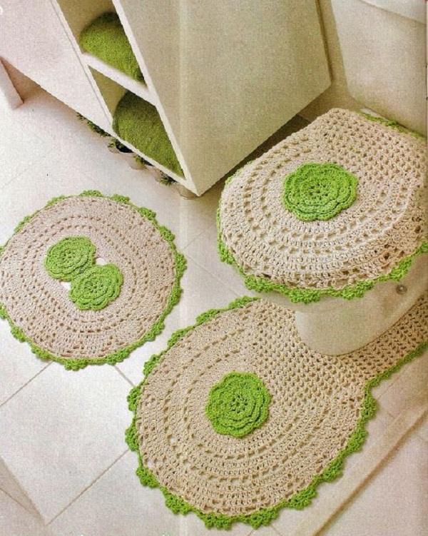 aprender a fazer jogo de banheiro de croche
