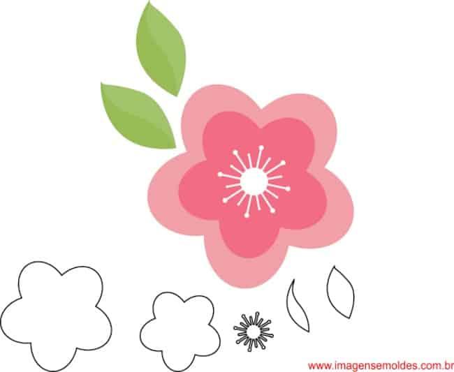 flor molde
