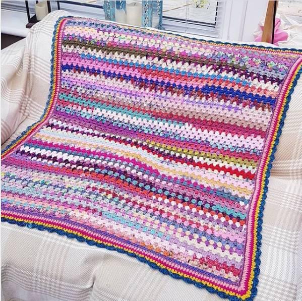 como fazer manta de croche