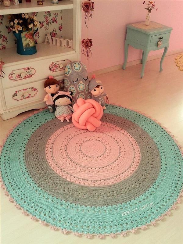 como fazer tapete de barbante