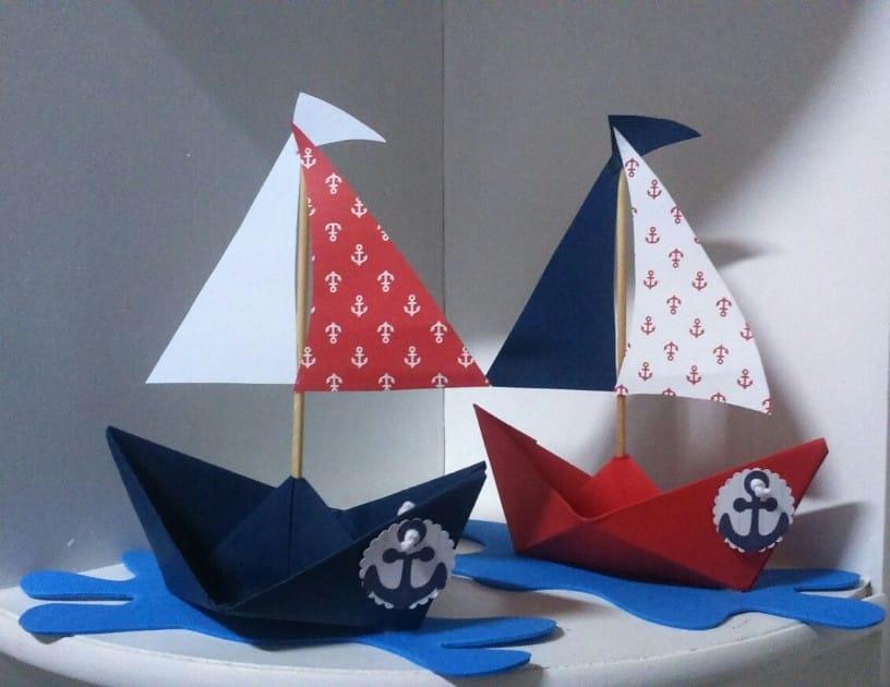 Barquinho de papel marinheiro