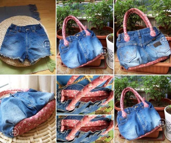 Bolsa De Calça Jeans Velha Como Fazer Artesanato Passo A