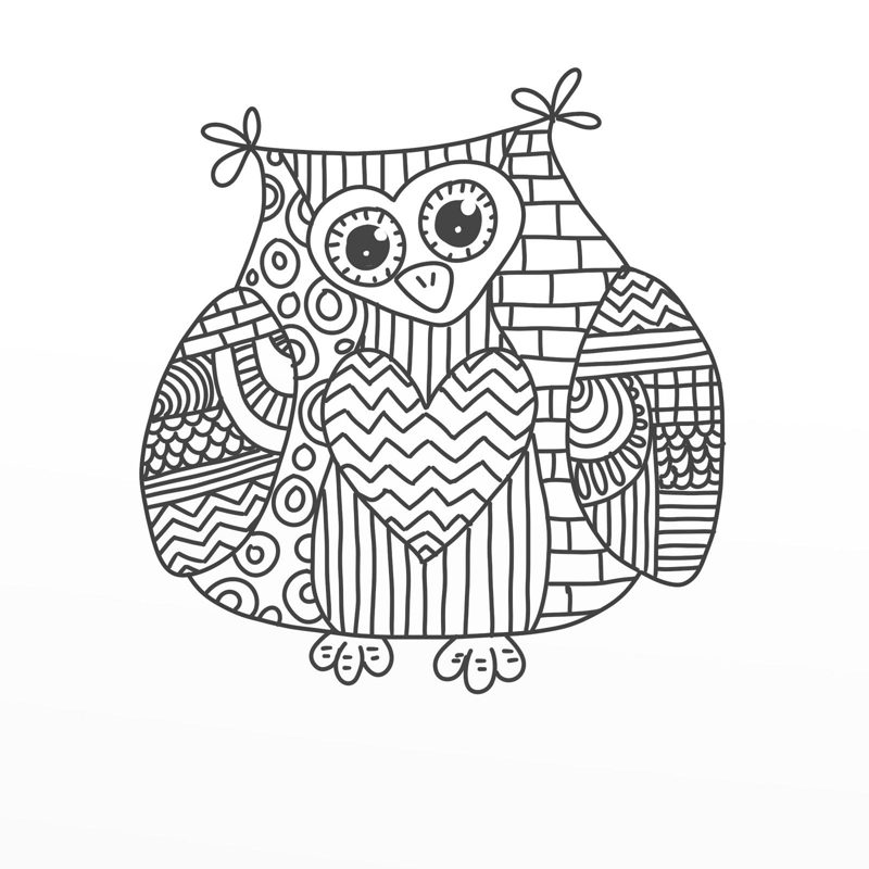 art coloring pages free | 30 Imagens de Corujas em Desenho para Colorir: Lindas e ...