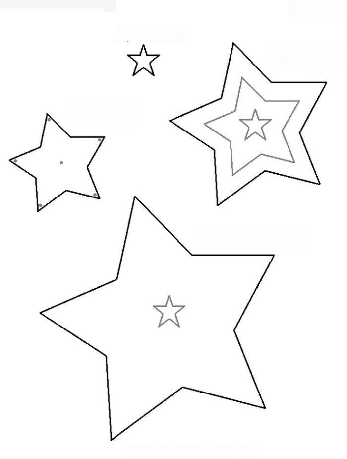 Molde De Estrela 30 Imagens Para Imprimir E Recortar Artesanato