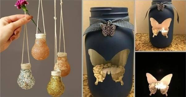 ideias para reaproveitar vidros decorados