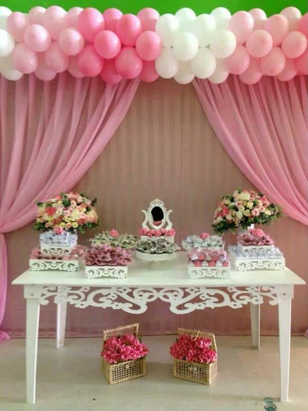 decoração simples para festa bailarina