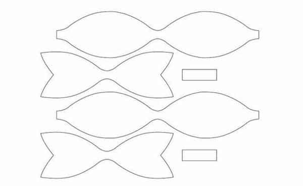 Molde de laço simples EVA