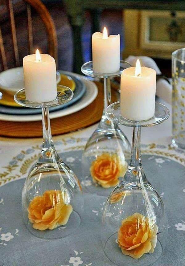 Arranjo de mesa diferente para noivado