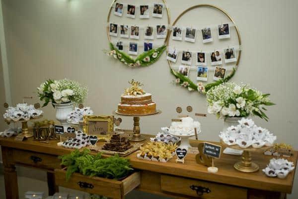 decoração de noivado simples