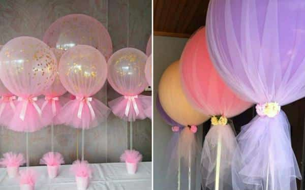 Balões decorativos festa bailarina