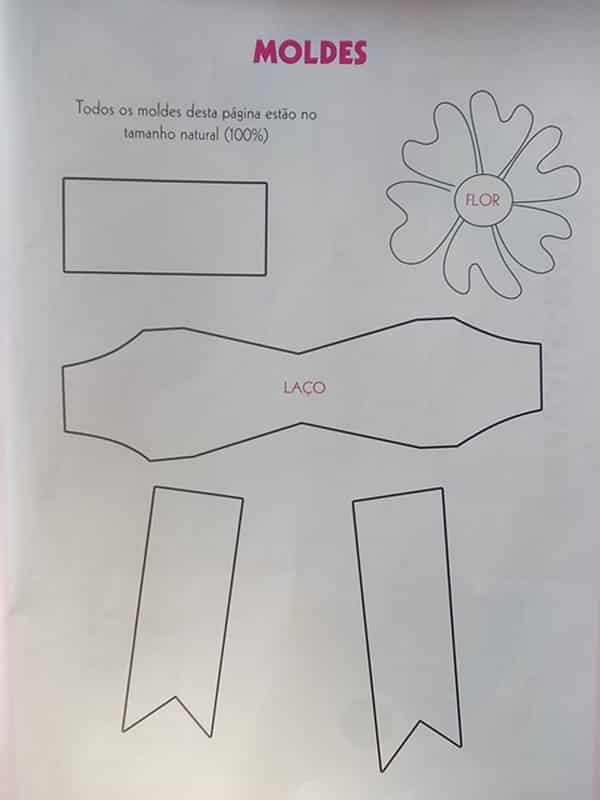 Molde para imprimir laço EVA