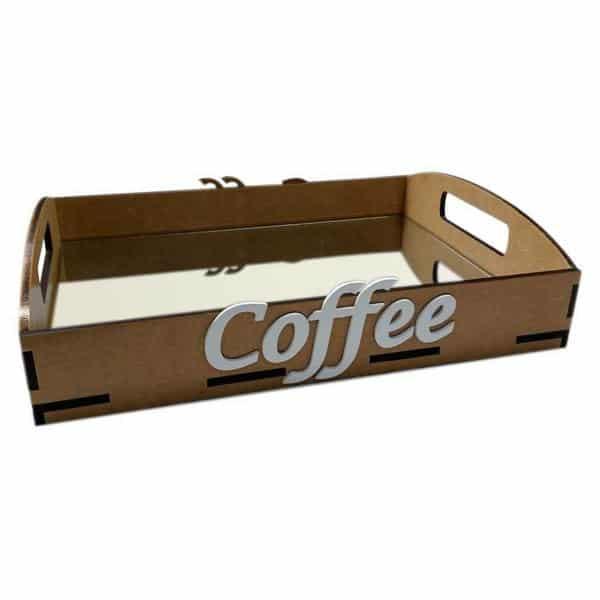 bandeja espelhada MDF para café