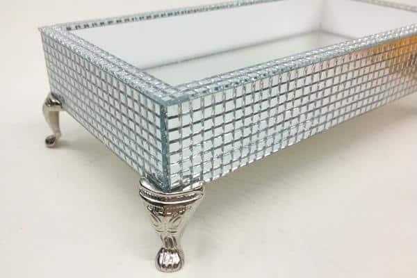 bandeja espelhada em mozaico