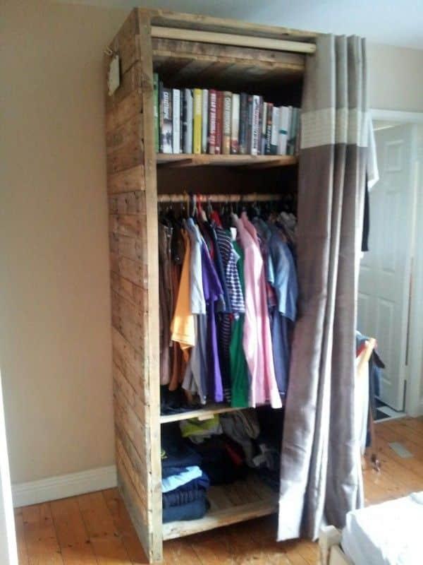 Guarda roupa de paletes como fazer ideias artesanato passo a passo - Armarios hechos con palets ...