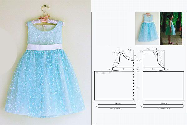 Molde De Vestido Infantil Para Imprimir Com Passo A Passo