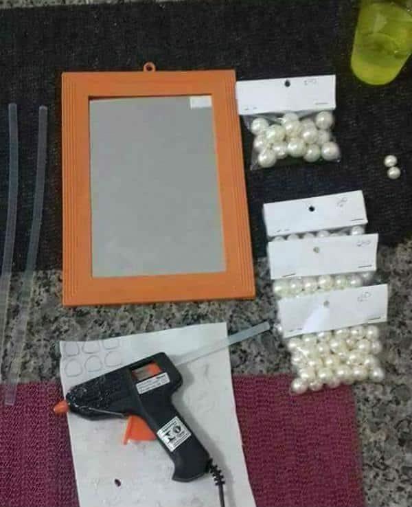 Lista de materiais para fazer bandeja espelhada