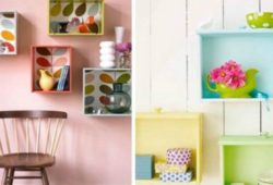 decoração com gavetas usadas