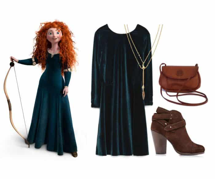 fantasia da princesa com vestido azul