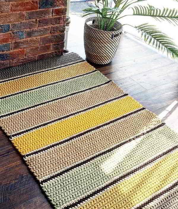 tapete feito de crochê