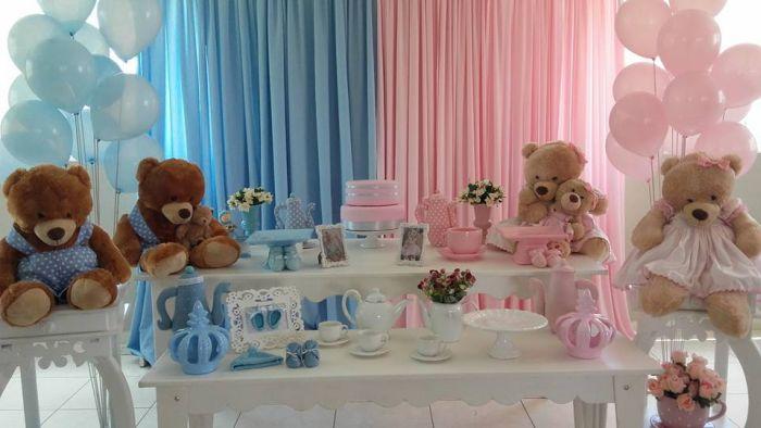 Chá de Beb u00ea Revelaç u00e3o Convite, Bolo, Decoraç u00e3o, Lembrancinha e Ideias Artesanato Passo a Passo!