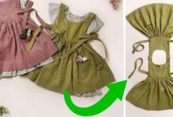 molde vestido infantil moderno
