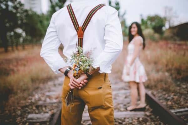 Buque de flores do campo para namorada