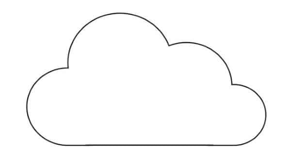 molde nuvem simples