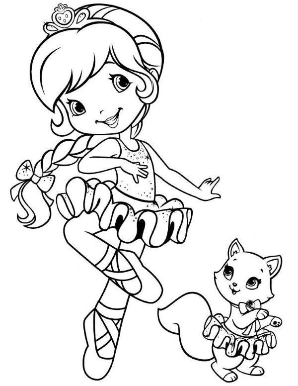 bailarina dançando com gatinho