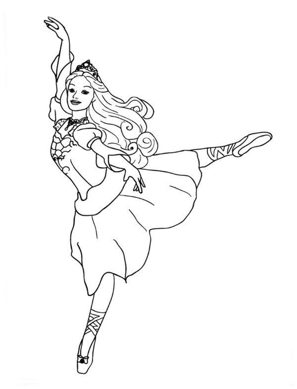 Desenho de Bailarina Para Colorir Imprimir e Moldes