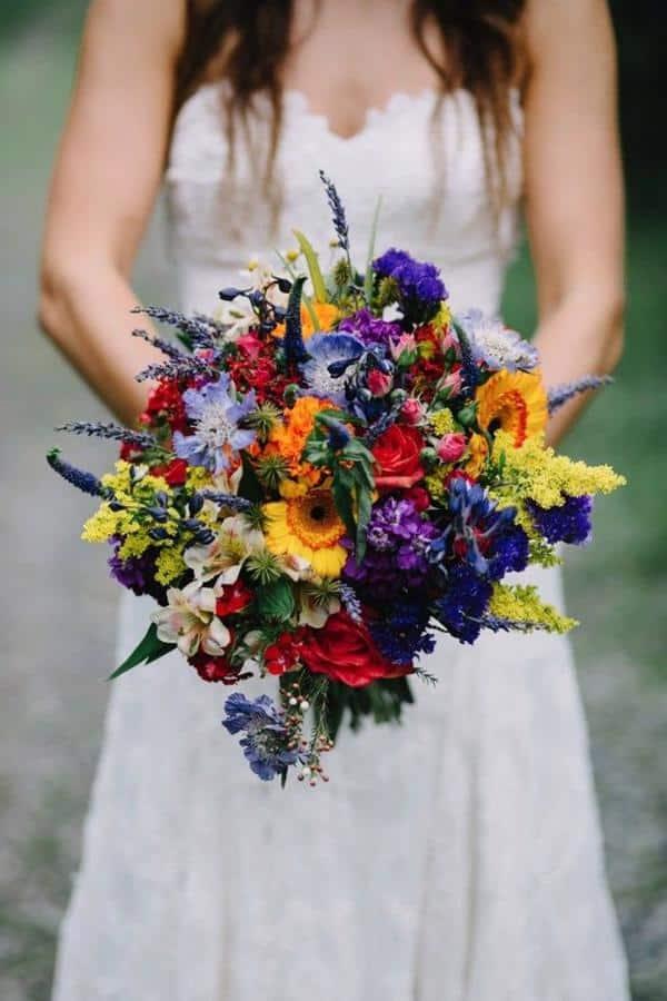 Flores de campos para buquê colorido