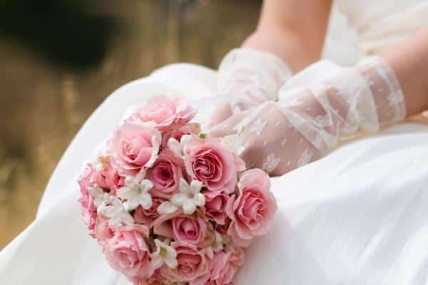 Buque de rosas para noivas