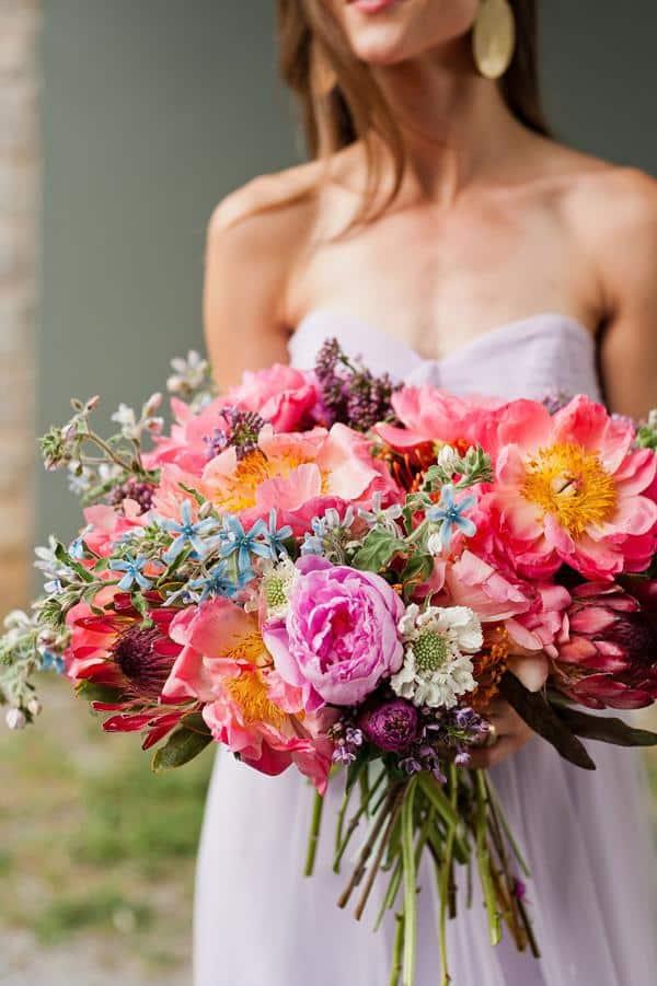 Buque bem colorido para casamento