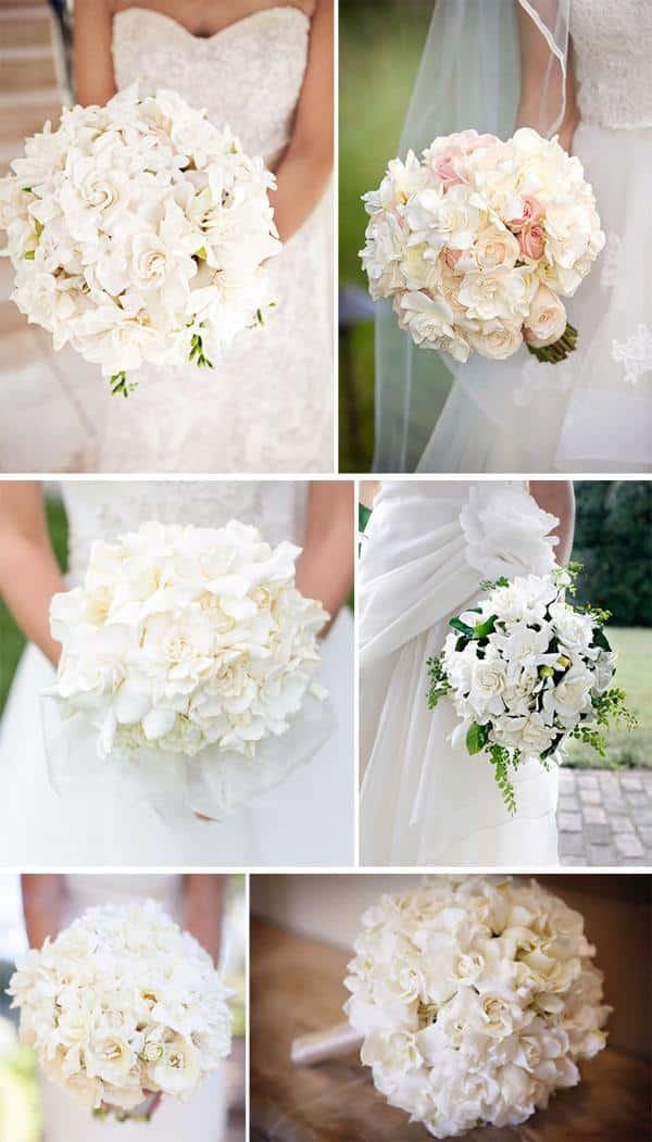 Buque de gardênia para noivas