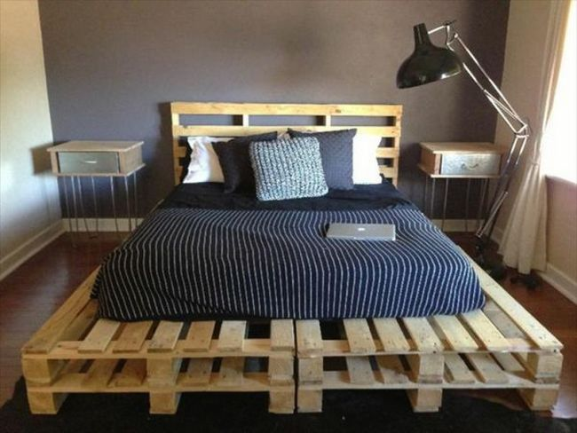 base de pallets com colchao