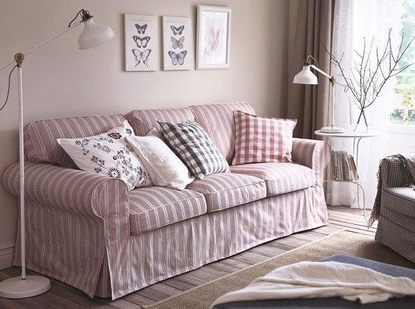 capa de sofá colorida