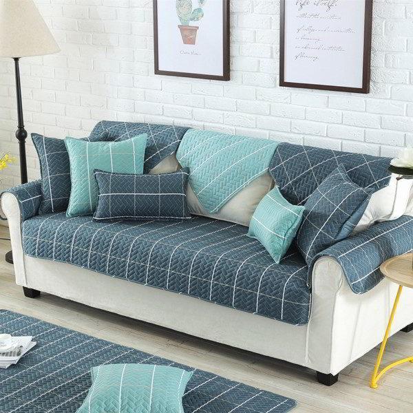 capa de sofa azul