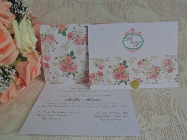 convite floral personalizado