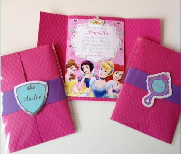 convite princesas personalizado