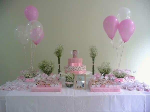 festa cor de rosa simples para aniversário