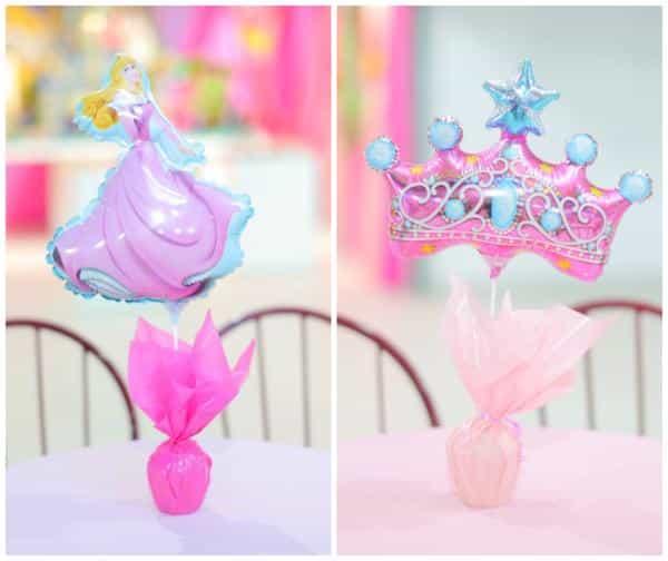 Enfeite de princesa para mesa de aniversário