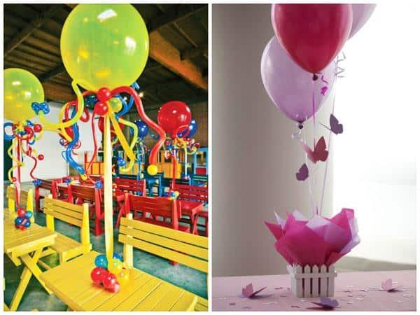 Balões para decorar mesa de festa infantil